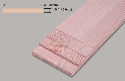 Slec Spruce 3 / 16x3x36   Slec Spruce 3/16x3x36